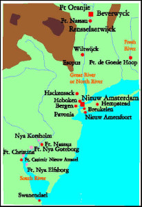 The Dutch settlements in North America. Author Marco Ramerini