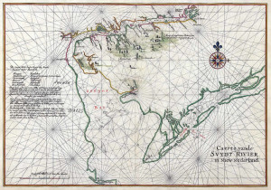 The Swaanendael Colony along the Delaware. Author Johannes Vingboons (1639)