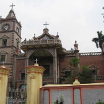 The basilica of the Holy-Rosary (1599), Bandel, Hooghly, West-Bengal, India. Author Grentidez. No Copyright