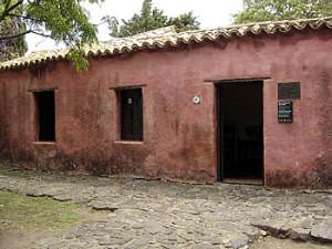 Typical Portuguese rancho (colonial houses), Colonia del Sacramento, Uruguay.... Author and Copyright Pedro Gonçalves