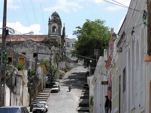 A street in Olinda, Brazil. Author and Copyright Marco Ramerini