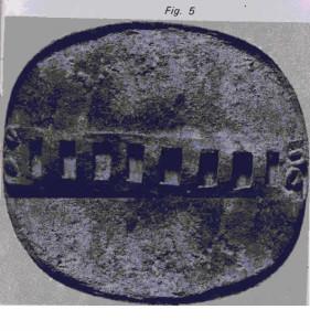 A bronze epaulette