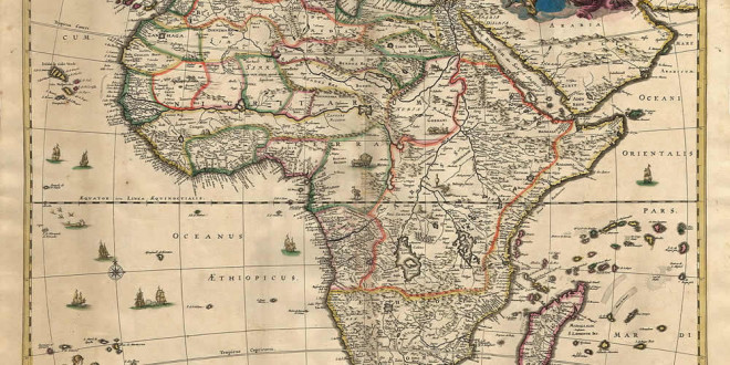 Africa Map (1689). Author van Schagen. No Copyright