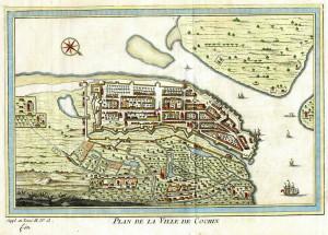 Cochin in 1761. Histoire générale des Voyages. No Copyright