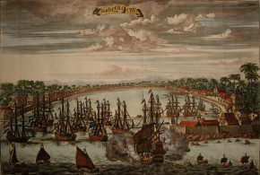 Dutch Colombo (1775), Sri Lanka. Johannes Kip c. 1775