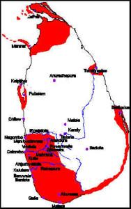 Dutch territorial expansion in Ceylon 1670. Author and Copyright Marco Ramerini