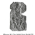 Fig. 10 Clay tablet from burial C5