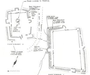 Fig. 2. Plan of the two earthworks, Mtoko (Mutoko) site