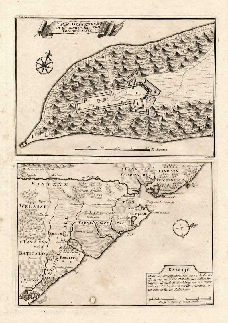 Fort Oostenburg (1726), Trincomalee, Sri Lanka. Author Valentijn 1726c