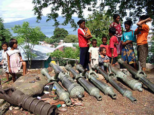 Guns, Lamakera, Solor Island, Indonesia. Author and Copyright Mark Schellekens and Greg Wyncoll,.,
