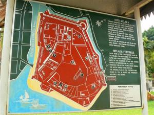 Malacca fort plan. Author and Copyright Krzysztof Kudlek