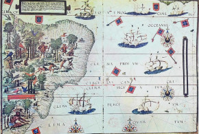 Map of Brazil in the Miller Atlas of 1519