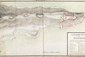 Map of Fort Oostenburg (1789-1790), Trinconomalee, Sri Lanka. Author Schenk