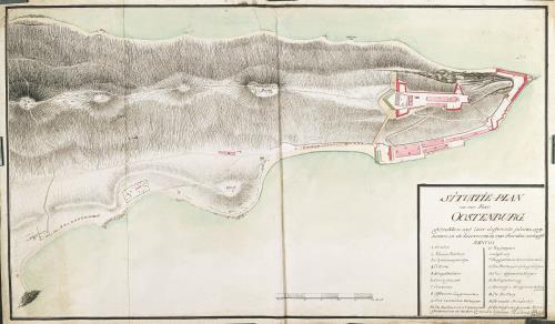 Mapa do forte Oostenburg (1789-1790), Trincomalee, Sri Lanka. Autor Schenk