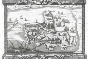 Map of Hormuz, Iran. Provost, A., L`Histoire Generale des Voyages, c. 1750.