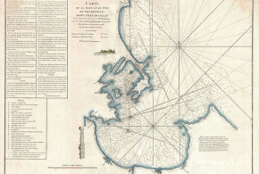 Mapa de Trincomalee (1775), Sri Lanka. Jean-Baptiste d'Après de Mannevillette, Le Neptune Oriental, 1775