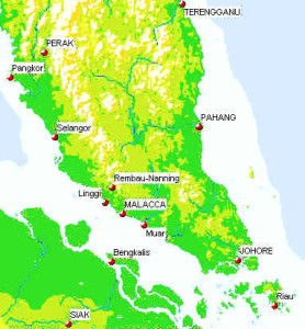 Map of the Malay Peninsula. Author and Copyright Marco Ramerini