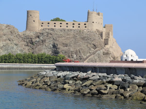 Festung Mirani, Maskat, Oman. Author and Copyright João Sarmento