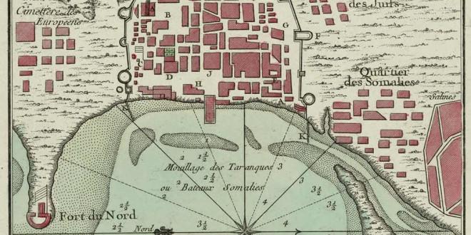 Moka, Yemen. Author Jacques-Nicolas Bellin from Le petit atlas maritime..., Vol. III, pl. 20, Paris 1764