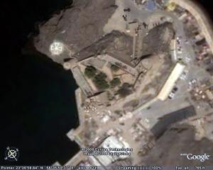 The Portuguese Fort of Jalali (São João), Muscat, Oman. Google Earth