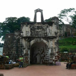 Porta de Santiago, Malacca, Malaysia. Author and Copyright Krzysztof Kudlek.