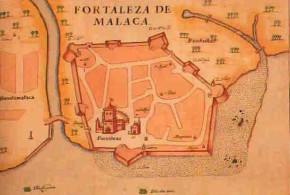 Portugiesisch Malakka (1600s), Malaysia. Livro das Plantas das Fortalezas, Cidades e Povoaçoes do Estado da India Oriental 1600s.