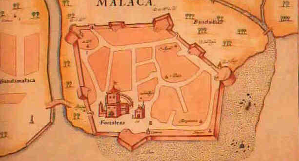 Portuguese Malacca Colonial Voyage - Portugal india map