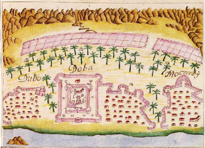 Portuguese fort of Doba from Prof. Rui Carita Lyvro de Plantaforma das Fortalezas da Índia