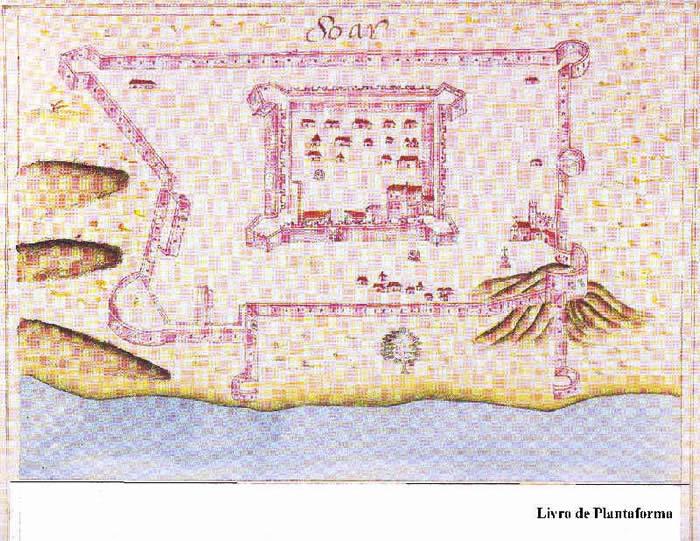 Portuguese fort of Soar from Prof. Rui Carita Lyvro de Plantaforma das Fortalezas da Índia