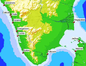 Portuguese forts and settlements in South India. Author Marco Ramerini
