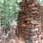 Ruins of the early settlers house Makaha, Zimbabwe. Photo © by Chris Dunbar. ,.
