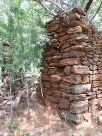 Ruins of the early settlers house Makaha, Zimbabwe. Photo © by Chris Dunbar. ,.