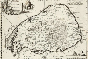 Mapa de Sri Lanka (Ceilão) (1681). Robert Knox. An Historical Relation of the Island Ceylon.