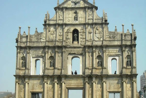 Kathedrale von St. Paul, Macau. Author Whhalbert. Licensed under the Creative Commons Attribution-Share Alike