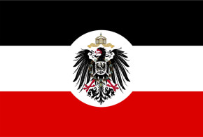 Dienstflagge des Reichskolonialamts (Reichskolonialamt ), Deutsches Reich 1892-1918. Aurthor David Liuzzo. Licensed under the Creative Commons Attribution