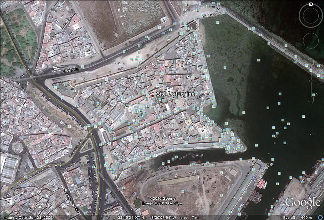 El Jadida-Mazagao Castle, Morocco. Google Earth