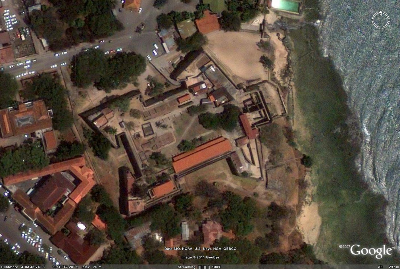 Forte Jesus, Mombasa, Kenya. Google Earth