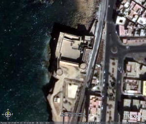 Safi Fort, Morocco. Google Earth