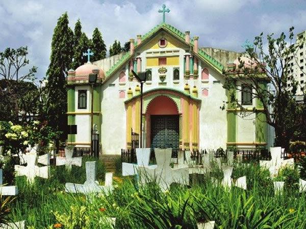 The Church of the Holy Rosary, Tejgaon, Dacca. Copyright Stefan Halikowski Smith