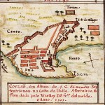 Portuguese Kollam (Quilon) in 1600, Kerala, India. No Copyright