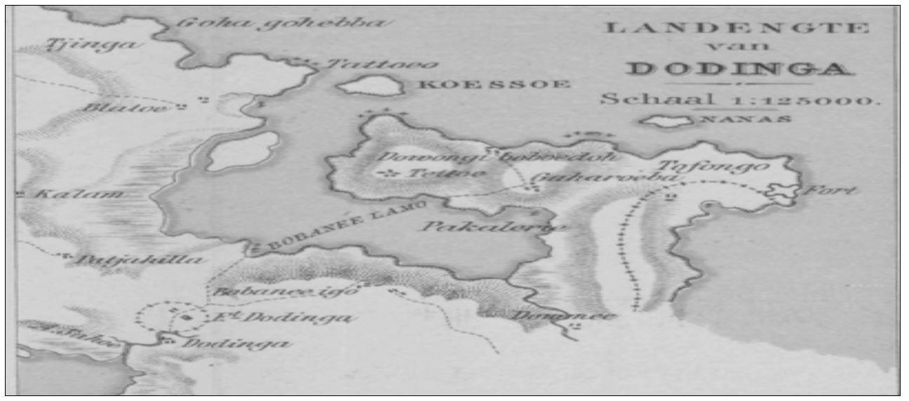 Detalle del mapa de C.F.H. Campen