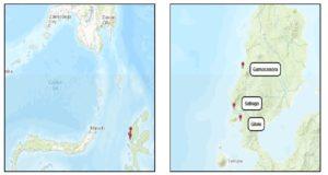 Isla de Halmahera - los fuertes de la banda del norte
