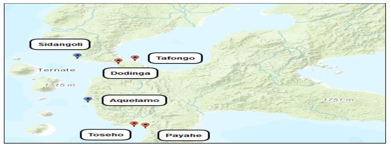 Mapa de restos de otras antiguas fortificaciones