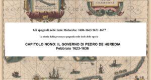 CAPITOLO NONO: IL GOVERNO DI PEDRO DE HEREDIA, Febbraio 1623-1636