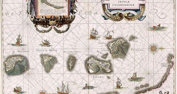 Mappa delle Molucche, 1630